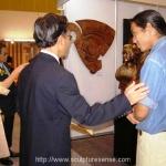 Prime Minister Chuan Leekpai with Santi in Bangkok