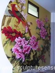 thai-traditional-motif-mural