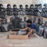Papier Mache Terrorist Target Shooting gun by sculpture Artist