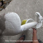 Paper Mache Sculpture Artist Chair for Kid