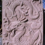 Sandstone sculptures - Dragons bas relief