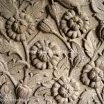 Sandstone sculptures - Floral bas relief