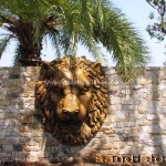 Sandstone sculptures - Lion high relief