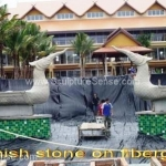 Sandstone sculptures -  Thai boats