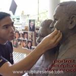 portrait clay sculpture process 2001