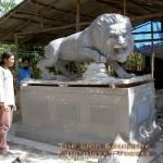 sculpture artist - lion sculpture fibreglass process