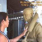 monk sculpture -  clay process